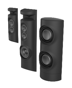 Grimani Systems CinemaOne, debuting at CEDIA Expo 2014, includes 13 speakers and subwoofers (right).